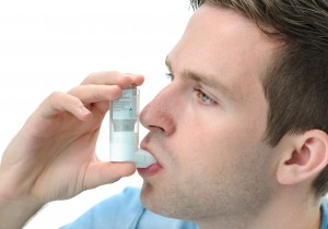 Man with asthma